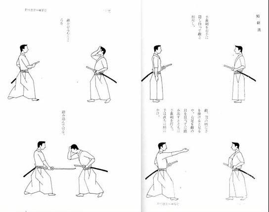 Страницы из книги «Сюрикэндзюцу дзукай» Фудзита Сэйко
